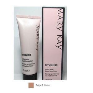 NEW Mary Kay Matte-Wear Liquid Foundation Beige 3